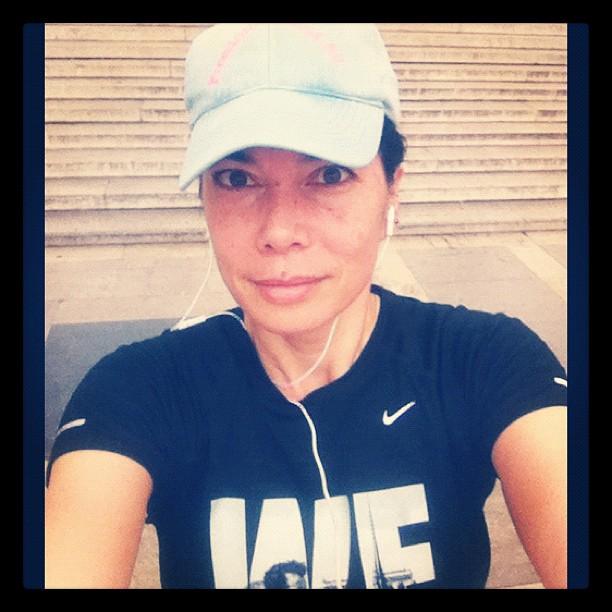 Chantal Hoogvliet running selfie