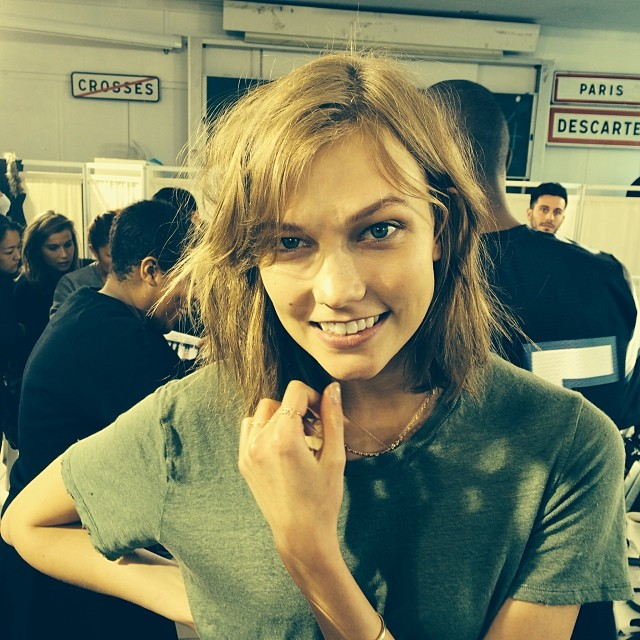 Karlie Kloss backstage Isabel Marant