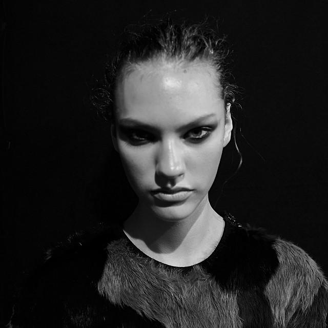 #1% @maggie_jablonski #portrait #project #beauty #makeup #dianekendal #hair @guidopalau #fashion @robertocavalli #chantaltvradar #paris #daylightstudio #milan @modelsdot #photo #noretouch #newyorkcity