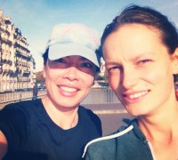 Running Selfie in Paris