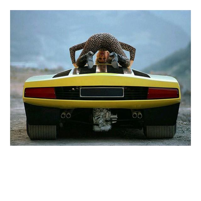 Chantal Hoogvliet concept car girl panther Ferrari 512 Berlinetta