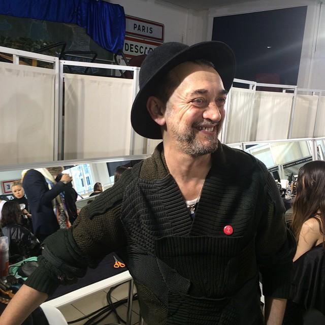 Eugene Souleiman backstage in Paris
