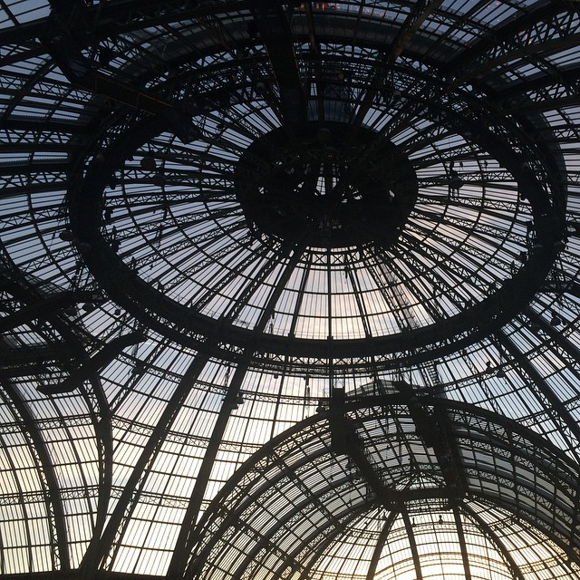 Grand Palais glass roof during Paris Fashion Week