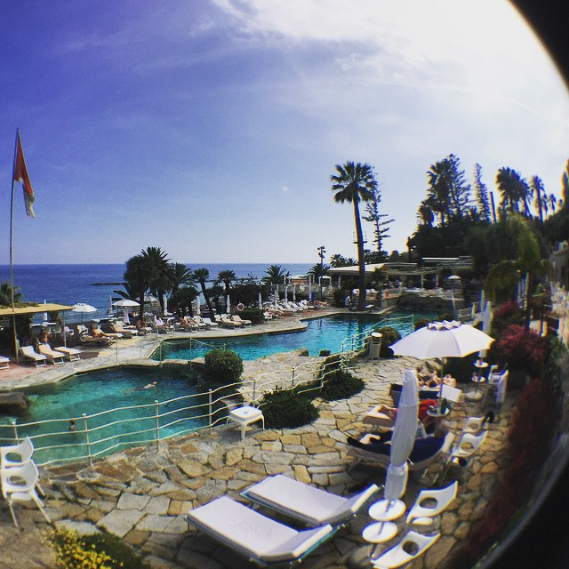 #Sanremo #swimmingpool through the #fisheye #lens #chantaltvradar  Travelling with @my_webspot