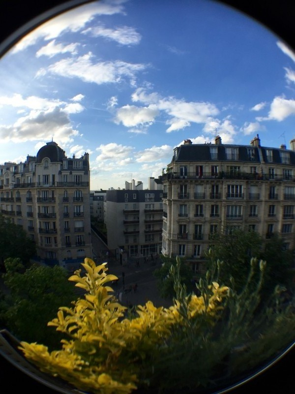 Paris fisheye view