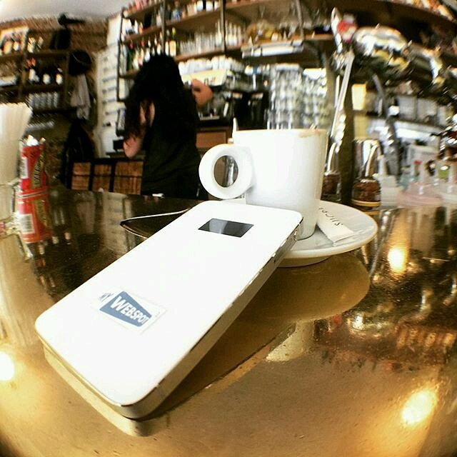 Always take @my_webspot for a coffee ️ #my_webspot #Periscope #ChantalTV #chantaltvradar #wifieverywhere #wifi #travelgadget #travelgear #travel #dongle #mifi #paris #france #iloveparis #parisjetaime