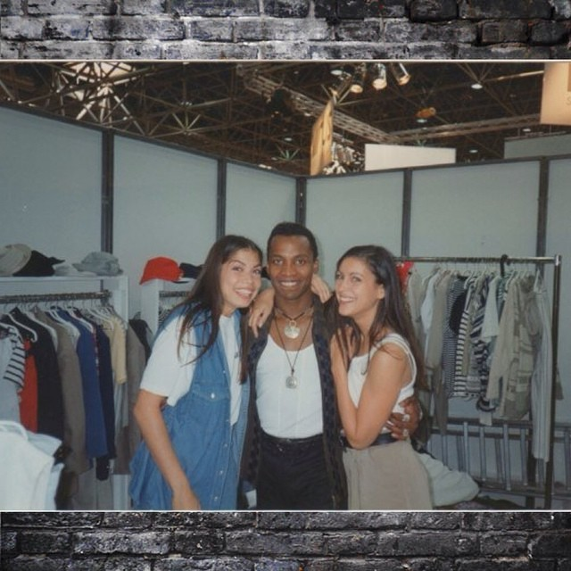 Haddaway with models in the nineties