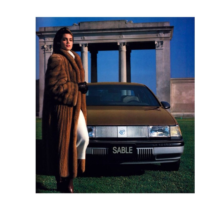 Cindy Crawford Mercury Sable car